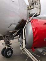 Damage of the two Embraer ERJ-190 of Kenya Airways that crash at ground