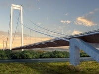 Rendering of the bridge that Fincantieri will build on the Danube, in Romania