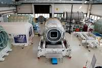 Pressurized Cargo Module (PCM) by Thales Alenia Space of the Cygnus spacecraft