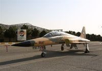 "The ""new"" fighter jet build by Iran, similar to the Northrop F-5F Tiger II"